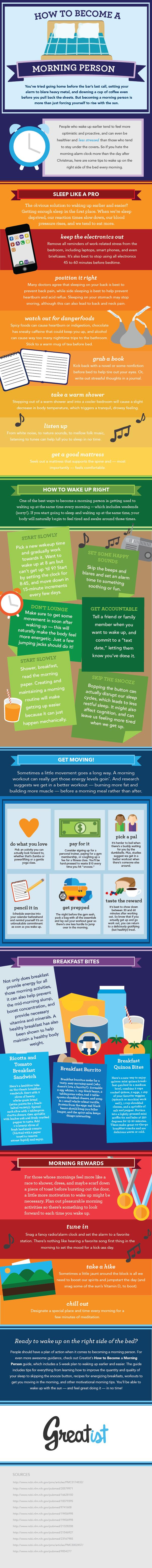 Morning Person Infographic greetist