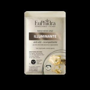 euphidra maschera viso tessuto illuminante