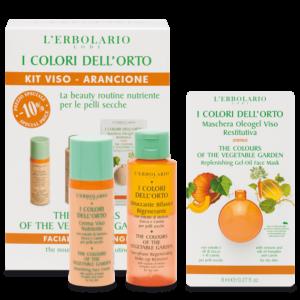 erbolario i colori dell'orto kit viso arancione