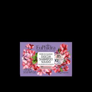 euphidra floreali doccia shampoo solido fiori di ciliegio