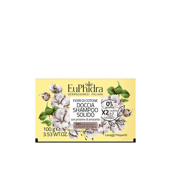 euphidra floreali doccia shampoo solido fiori di cotone