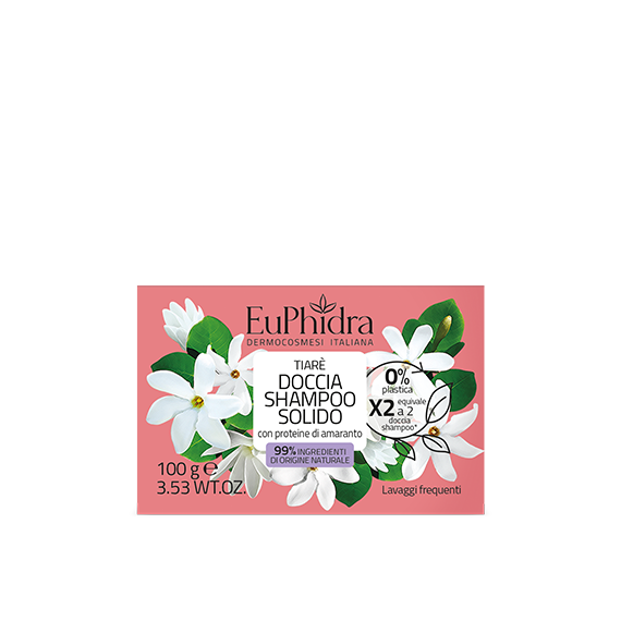 euphidra floreali doccia shampoo solido tiare