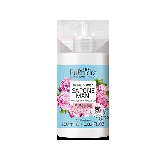 euphidra floreali sapone mani petali di rosa